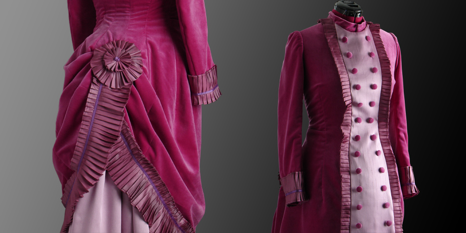 suknia damska aksamitna