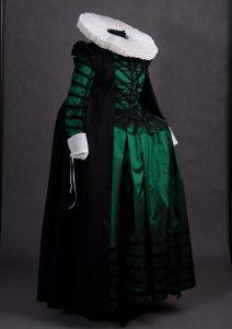 Strój damski według mody holenderskiej z początku XVII wieku