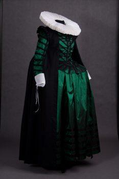 Historyczny Strój damski według mody holenderskiej z początku XVII wieku.