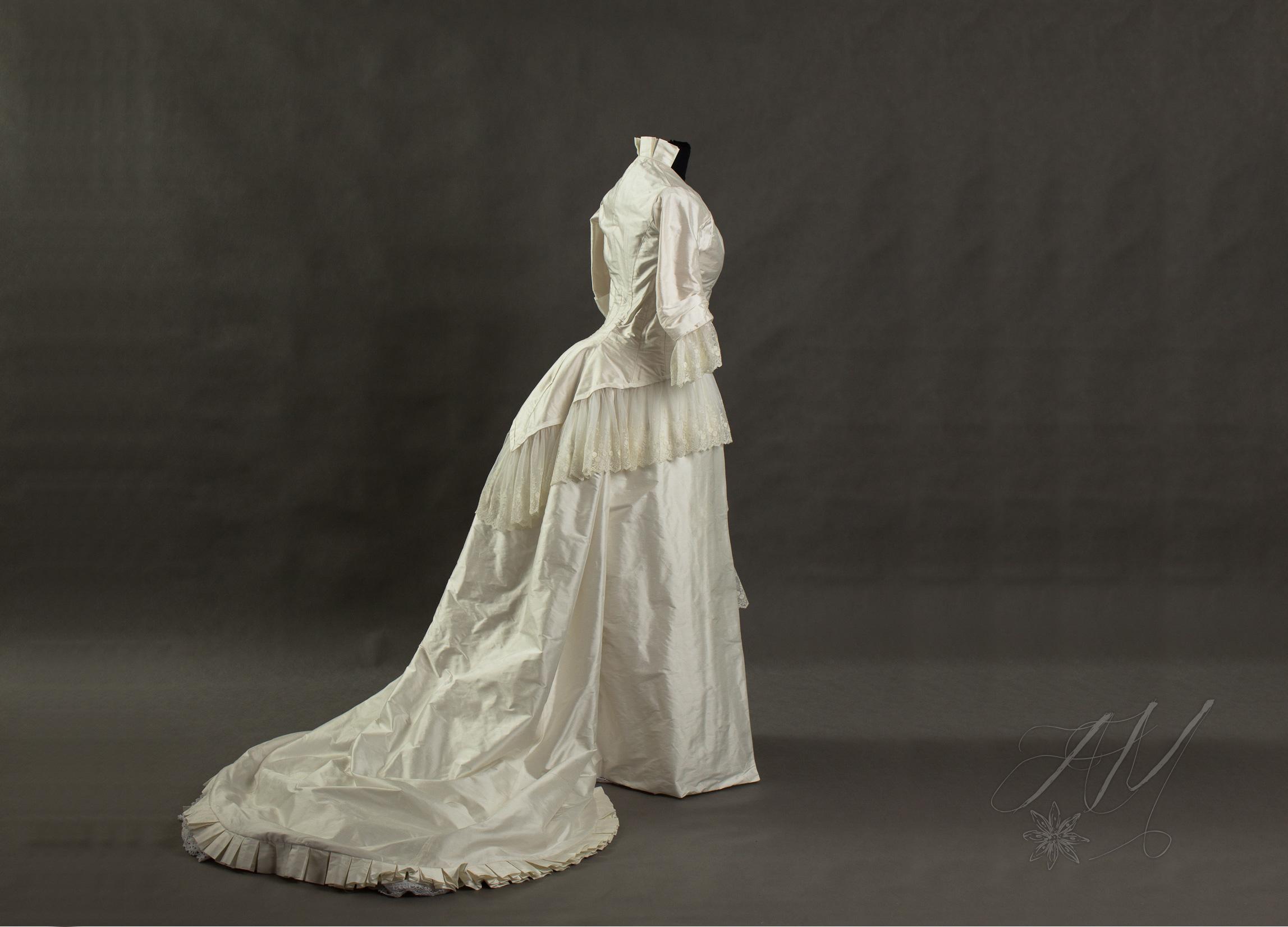 Suknia ślubna 1880 R Stroje Historyczne Rekonstrukcje Ubiorów